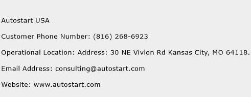 Autostart USA Phone Number Customer Service