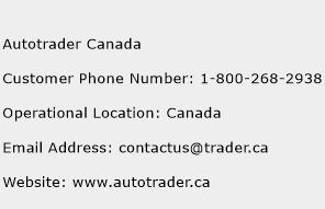 Autotrader Canada Phone Number Customer Service