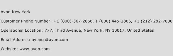 Avon New York Phone Number Customer Service