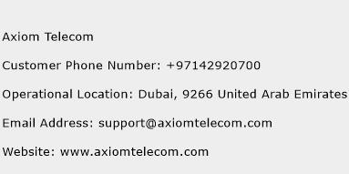 Axiom Telecom Phone Number Customer Service