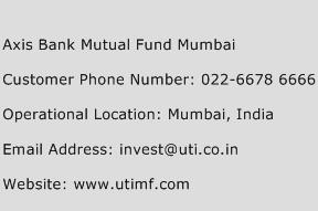 Axis Bank Mutual Fund Mumbai Phone Number Customer Service
