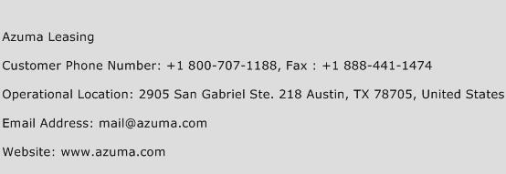 Azuma Leasing Phone Number Customer Service