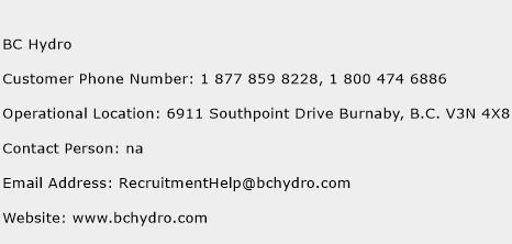 BC Hydro Phone Number Customer Service