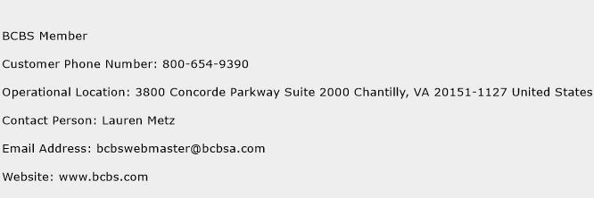 BCBS Member Phone Number Customer Service