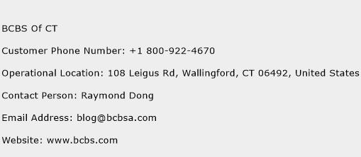 BCBS Of CT Phone Number Customer Service