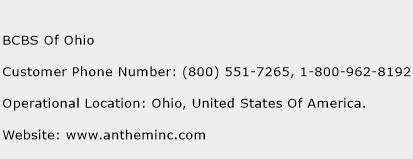BCBS Of Ohio Phone Number Customer Service
