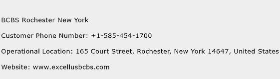 BCBS Rochester New York Phone Number Customer Service