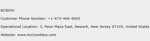 BCBSNJ Phone Number Customer Service