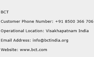 BCT Phone Number Customer Service