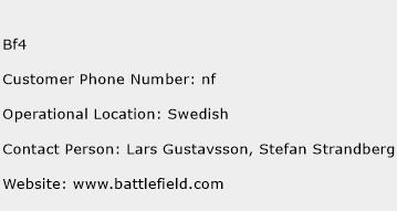 BF4 Phone Number Customer Service