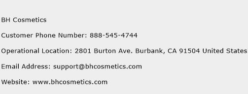 BH Cosmetics Phone Number Customer Service