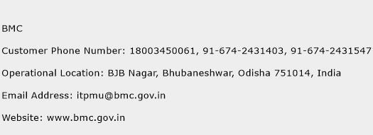 BMC Phone Number Customer Service