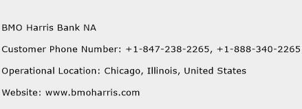 BMO Harris Bank NA Phone Number Customer Service