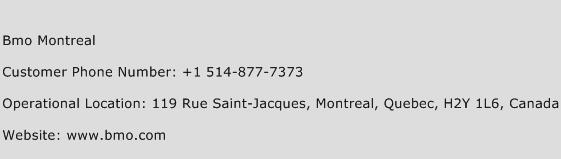 BMO Montreal Phone Number Customer Service