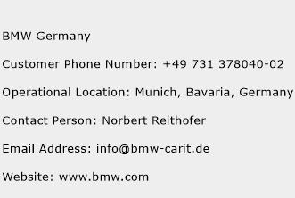 Bmw Germany Customer Service Phone Number Contact Number Toll Free Phone Contact Address