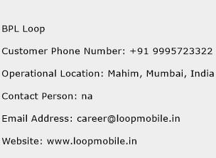BPL Loop Phone Number Customer Service