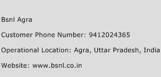 BSNL Agra Phone Number Customer Service