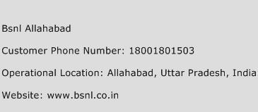 BSNL Allahabad Phone Number Customer Service