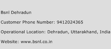 BSNL Dehradun Phone Number Customer Service