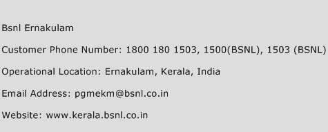 BSNL Ernakulam Phone Number Customer Service