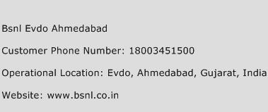 BSNL Evdo Ahmedabad Phone Number Customer Service