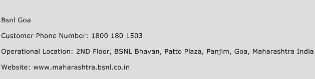 BSNL Goa Phone Number Customer Service