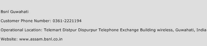 BSNL Guwahati Phone Number Customer Service