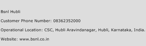 BSNL Hubli Phone Number Customer Service