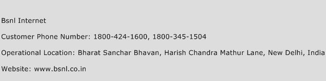 BSNL Internet Phone Number Customer Service