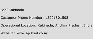 BSNL Kakinada Phone Number Customer Service