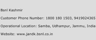 BSNL Kashmir Phone Number Customer Service