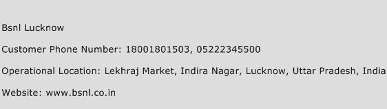 BSNL Lucknow Phone Number Customer Service