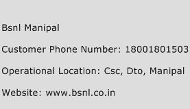 BSNL Manipal Phone Number Customer Service