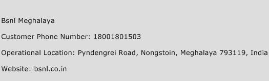 BSNL Meghalaya Phone Number Customer Service