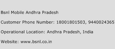 BSNL Mobile Andhra Pradesh Phone Number Customer Service