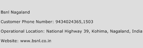 BSNL Nagaland Phone Number Customer Service