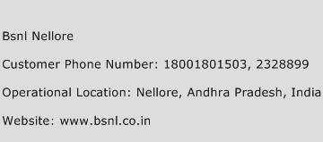 BSNL Nellore Phone Number Customer Service