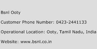 BSNL Ooty Phone Number Customer Service