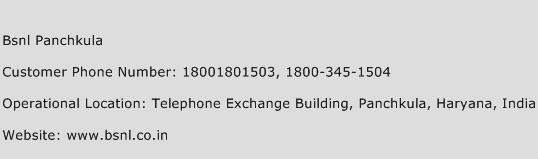 BSNL Panchkula Phone Number Customer Service