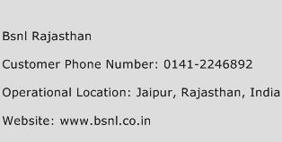 BSNL Rajasthan Phone Number Customer Service