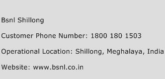BSNL Shillong Phone Number Customer Service