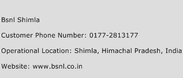 BSNL Shimla Phone Number Customer Service