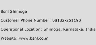 BSNL Shimoga Phone Number Customer Service
