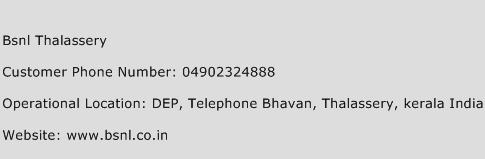 BSNL Thalassery Phone Number Customer Service