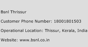 BSNL Thrissur Phone Number Customer Service