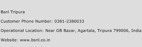 BSNL Tripura Phone Number Customer Service