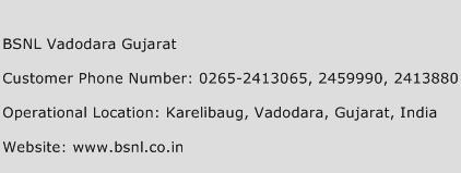 BSNL Vadodara Gujarat Phone Number Customer Service