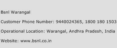 BSNL Warangal Phone Number Customer Service