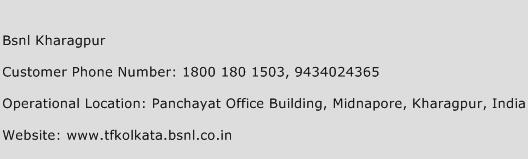 BSNl Kharagpur Phone Number Customer Service