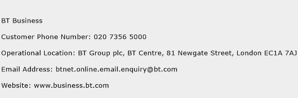 BT Business Phone Number Customer Service